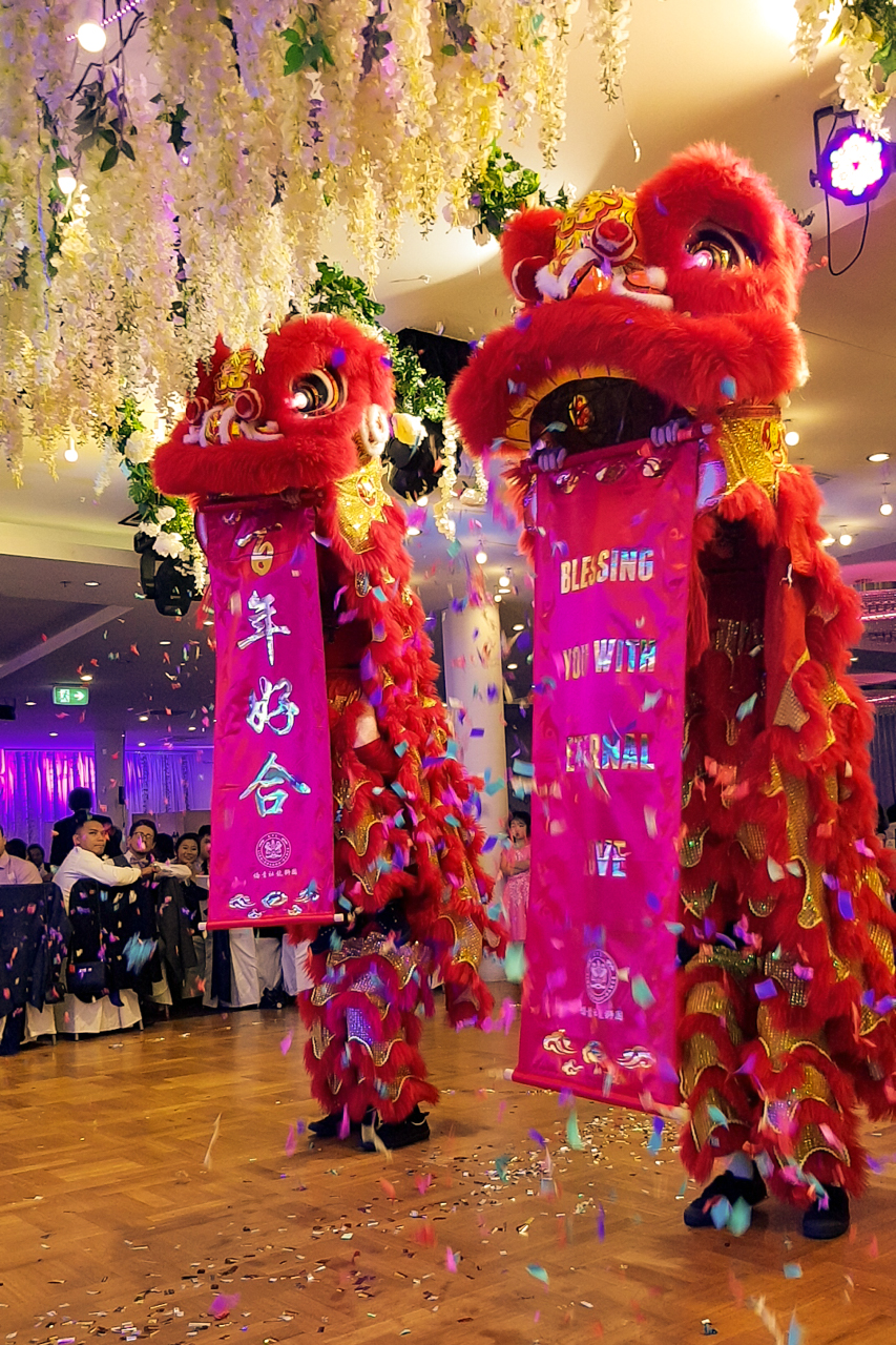 Wedding lions banners