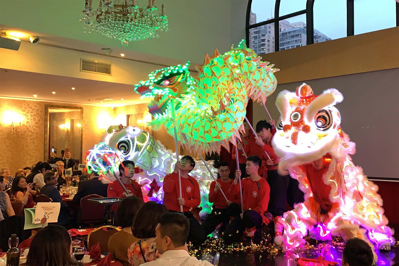 CYL 80th LED Lion Dance Dragon