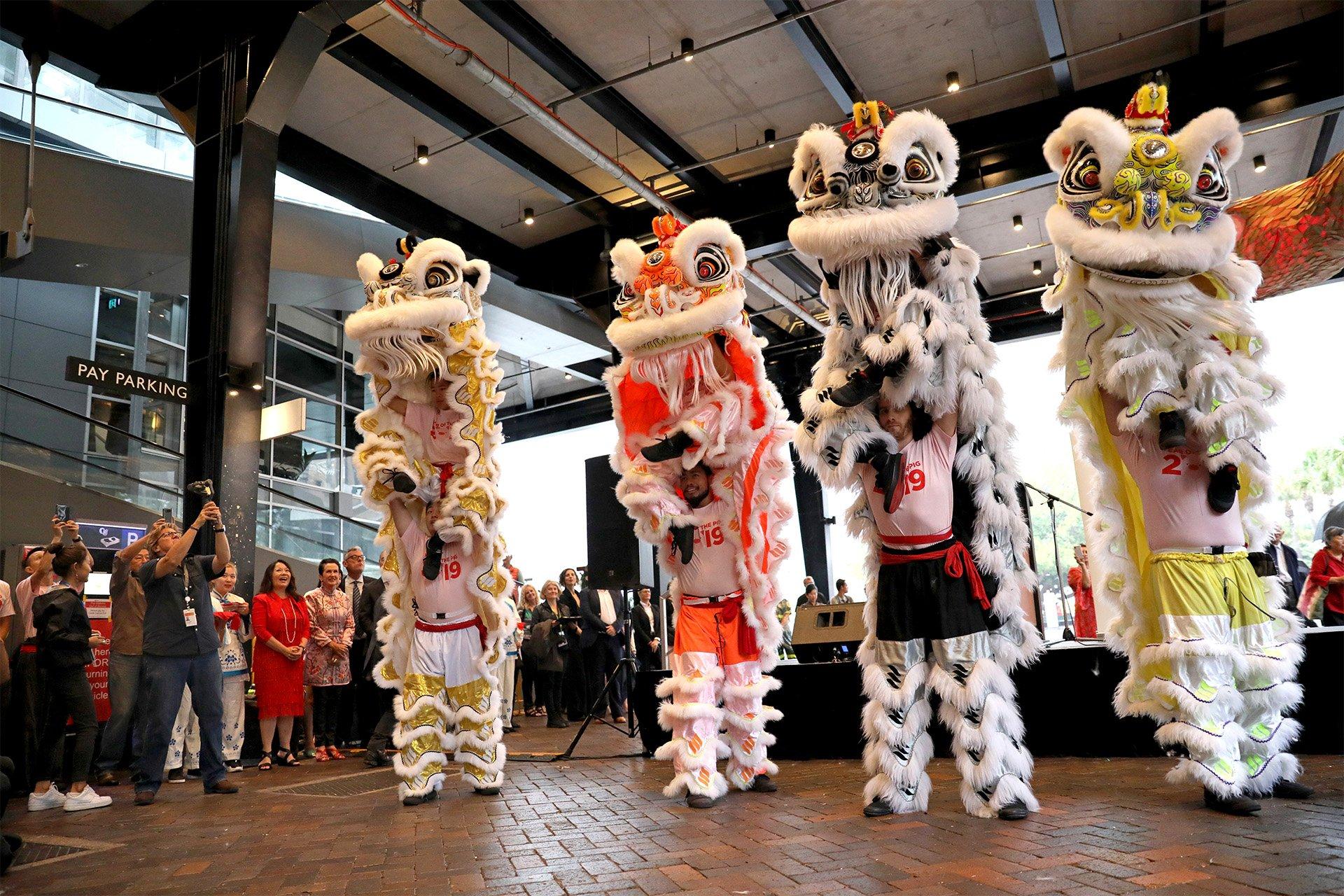 City of Sydney Lunar Festival CNY 2019 Lion Dance